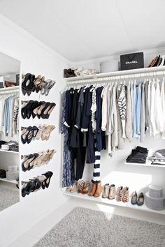Ankleideraum selbst Ideen Garderobe offene Garderobe bauen Source by FreshideenGioia