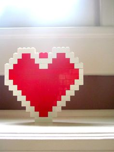 LEGO Heart Container from The Legend Of Zelda Find more cool teen program ideas at www.the4yablog.com