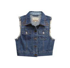 REVIEW Jeansweste mit Nietenbesatz #denim #vest #festival #fashion
