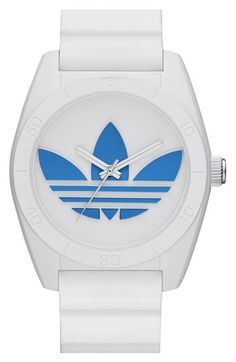 adidas+Originals+'Santiago'+Silicone+Strap+Watch,+42mm+available+at+#Nordstrom