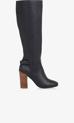 STACKED HEEL TALL BOOT