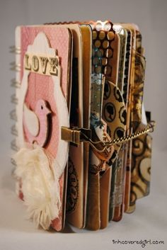 Mini scrapbook with pics, love letters and stuff that you both like