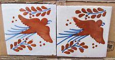 "90~MEXICAN TALAVERA POTTERY 4"" tile Hand Painted Wall Art + Venice Italy CD"