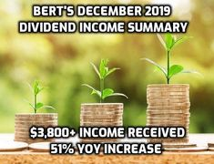 Bert and his wife set a new personal record by receiving over $3,800 in dividend income in December!  This article lists each individual holding that paid them a dividend this month, and the new dividends they will receive in 2020 from new stock purchases.  #ClicktoRead #DividendInvesting #Investing #Stocks #WhyInvestingMatters #PersonalFinance #401k Dividend Investing, Dividend Stocks, Email Subject Lines, Early Retirement, Summary, Personal Finance, December, How To Remove, How To Plan