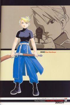 Hiromu Arakawa, Fullmetal Alchemist, Fullmetal Alchemist Artbook Vol. 1, Riza Hawkeye