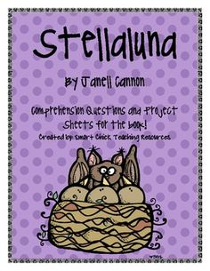 Stellaluna, by Janell Cannon, Printables to go with the book! Narrative Story, Narrative Writing, Library Lessons, Library Ideas, Kids Activity Books, Book Activities, Teaching Materials, Teaching Ideas, First Grade Themes