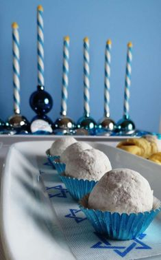 Blue, Silver and White Hanukkah Party Ideas   Photo 5 of 14   Catch My Party