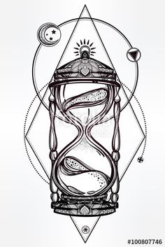 "Download the royalty-free vector ""Hand drawn romantic design of a hourglass."" designed by itskatjas at the lowest price on Fotolia.com. Browse our cheap image bank online to find the perfect stock vector for your marketing projects!"
