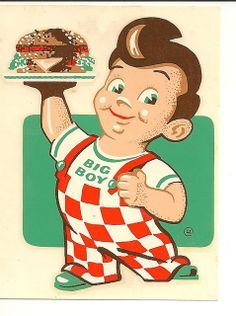 Shoney's 'big boy' restaurants - went here all the time in the My Childhood Memories, Great Memories, School Memories, Big Boy Restaurants, Vintage Cartoons, Pub Vintage, Vintage Signs, Vintage Food, Retro Vintage