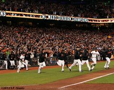 Let the party begin #SFGiants #NLWestChamps