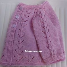 "Free Pattern: Pink Knit Baby Cardigan Sweater by Filomena Lanzara [ ""Ravelry: … - Knitting Baby Baby Knitting Patterns, Baby Sweater Patterns, Knitting For Kids, Baby Patterns, Free Knitting, Cardigan Bebe, Knitted Baby Cardigan, Knit Baby Sweaters, Knitted Baby Clothes"