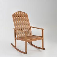 Fauteuil à bascule bois chaise relaxation - Achat / Vente chaise ...