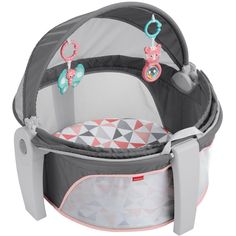 Fisher-Price On-The-Go Girl Baby Dome - Houtskool, free baby supplies, Fisher Price, Baby Dome, Best Baby Toys, Baby Girl Toys, Baby Bassinet, Baby Supplies, Infant Activities, Baby Accessories, Baby Stroller Accessories