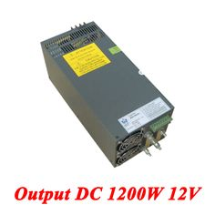 Scn-1200-12 switching power supply 1200W 12v 100A,Single Output ac-dc converter for Led Strip,AC110V/220V Transformer to DC 12V //Price: $189.69//     #gadgets