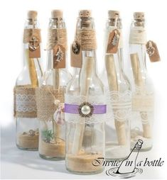 Creative Image of Message In A Bottle Wedding Invitations Message In A Bottle Wedding Invitations Invite In A Bottle Handmade Message In A Bottle Invitations From Wedding Invitation Message, Pirate Party Invitations, Birthday Party Invitation Wording, Mermaid Invitations, Unique Invitations, Simple Wedding Invitations, Wedding Invitation Design, Wedding Stationery, Invites