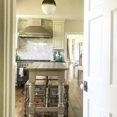 """Pebble Hill Design & Creative (@pebblehilldesign) posted on Instagram: """"Everyone always congregates in the kitchen... so good flow and comfortable seating are a must. Here, Pebble Hill Design created a custom…"""" • Jul 13, 2020 at 10:10pm UTC"""