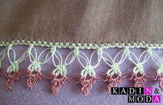 2015 Çeyizlik Tığ Oya Modelleri | Beyaz Limon, Haberler, Güncel Haberler, Son Haberler Crochet Borders, Crochet Lace, Crochet Bikini, Baby Knitting Patterns, Tatting, Diy And Crafts, Crochet Necklace, Lily, Ribbon