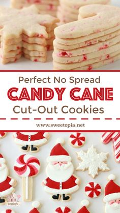 Recipe for candy cane cut out sugar cookies. Just a taaaad bit early, I hope you can forgive me for sharing my jolly St. Nick cookies with you in early November! I plan hope to be sharing my Christmas sweets with you weekly Christmas Sugar Cookies, Christmas Sweets, Holiday Cookies, Christmas Cookies Cutouts, Christmas Recipes, Holiday Recipes, Cut Out Cookie Recipe, Sugar Cookies Recipe, Cookie Recipes