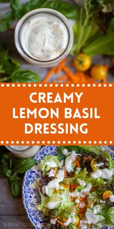 This dressing is delicious served over a salad, cooked veggies or even dipped in raw veggies. #Recipes #SaladRecipes #ShesNotCookin #EasyRecipes