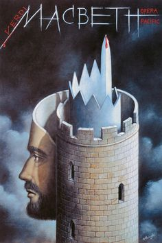 Macbeth by Guiseppe Verdi. Poster by Rafal Olbinski