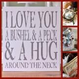 December 10 - Gift of the Day only $39 - https://www.chicklingosigns.com/products/baby-kids-signs/18x20-i-love-you-a-bushel-a-peck-sign/