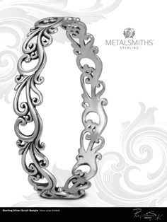 Sterling silver #bangle by Metalsmith.
