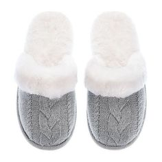 Victoria's Secret The Cozy Slipper ❤ liked on Polyvore featuring shoes and slippers