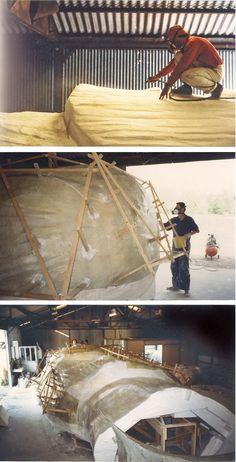 Lami Gérard - 1999-Luxeuil les Bains 70-Ex-voto Monumental h:8m (réalisation des moules en silicone élastomère et des chapes en résine de polyester armé)