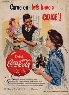 1954 Vintage British Coca Cola Ad