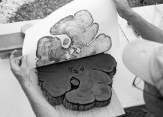 Impressão de tronco.