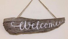 New House Housewarming Gift idea HAND-PAINTED Driftwood Indication Welcome