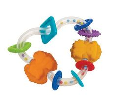 Manhattan Toy Triangle Teether Rattle - £5.99 - A great range of Rattles & Teethers - FREE Delivery over £25!