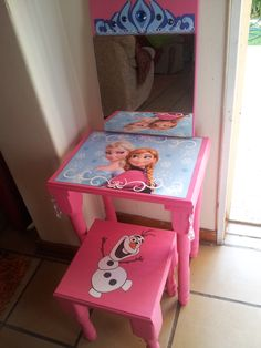 I made this dressing table for a little girl. A little paint, with decoupage and beads, and it was done! My hubby did the woodwork. They are selling like hot cakes :-)