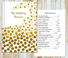 Wedding Planner- Gold Bubbles
