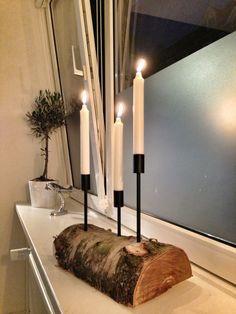 Homemade candlestick