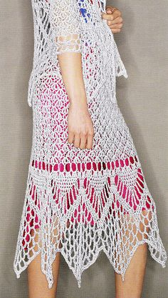 Beautiful Lacy Crochet Skirt: pattern by Doris Chan for purchase