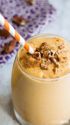 Make this protein-packed Healthy Pumpkin Pie Smoothie in minutes! This vegan smoothie recipe is a great choice to satisfy cravings for pie without feeling guilt! Make a pumpkin smoothie today! #smoothies #pumpkinspice #movepraylove