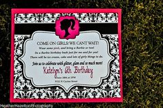 Barbie Birthday Invitation