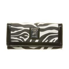 Grace Adele Contrast-Zebra Wallet - Goes perfectly with the Zebra-print Emma bag I love! <3