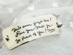 Handwriting Jewelry Personalized Signature Bracelet Jewelry in