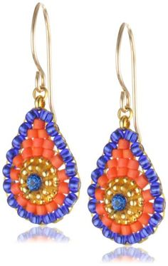 Miguel Ases Tangerine and Blue Miyuki Mini Drop Earrings Miguel Ases http://www.amazon.com/dp/B00B80KVRI/ref=cm_sw_r_pi_dp_qzJ3tb01RAR1PK09