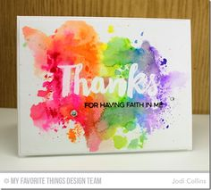 Thanks card by Jodi Collins for @mftstamps