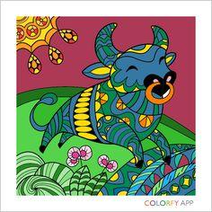 colorfy app for kindle - zodiac