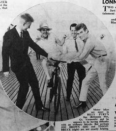Billy Fury, Joe Brown, Tommy Bruce and Hal Carter  - from Pete Rennie on Facebook Group:Billy Fury Photo Album.