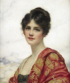 """Artist William Clarke Wontner, this portrait is """"Esme"""". Wontner was a painter… L'art Du Portrait, Female Portrait, Art Gallery, Painted Ladies, Foto Art, Classical Art, Woman Painting, Cave Painting, Beautiful Paintings"""