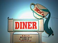 Mel's Diner-Vintage Roadside Sign