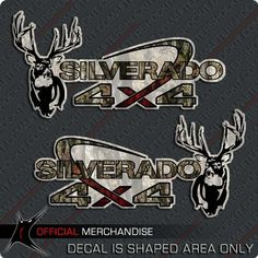 Silverado 4x4 Whitetail Deer Truck Sticker Decal Camouflage Camo by Aftershock, http://www.amazon.com/dp/B0017S0BIU/ref=cm_sw_r_pi_dp_J-5isb0SH3TW6