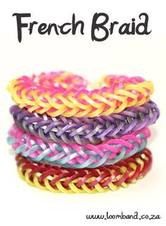 French Braid Loom Band Bracelet Tutorial, instructions and videos on hundreds of loom band designs. Shop online for all your looming supplies, delivery anywhere in SA.