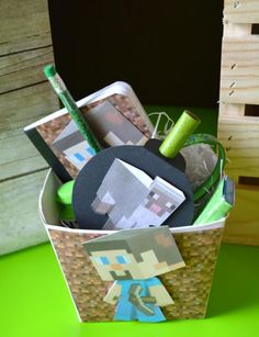 Minecraft PARTY FAVOR IDEAS from a Vintage Minecraft Party found via Kara's Party Ideas | KarasPartyIdeas.com