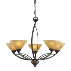 THIS is the one that I want! But yikes, the $! Westmore Lighting 5-Light Elysburg Bronze Chandelier